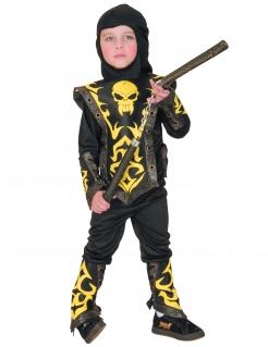 Ninja Kinderkostüm schwarz-gelb