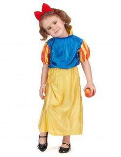 Kleine Märchenprinzessin Kinderkostüm blau-gelb-rot