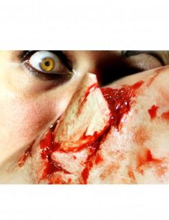 Offener Knochenbruch Tattoo Halloween-Makeup 3-teilig beige-rot
