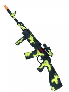 Maschinen-pistole kostümzubehör Gewähr tarnoptik grün 58cm
