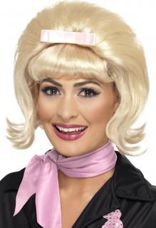 Damen-Perücke 50er-Kostümaccessoire pagenkopf blond