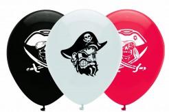 Piraten Luftballons Party Zubehör 6 teilig bunt