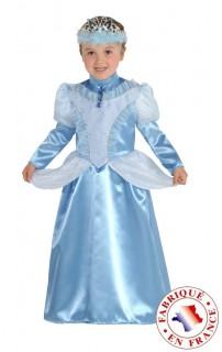 Barockes Prinzessinnen-Kostüm für Mädchen blau
