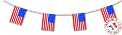 Girlande USA Hängedeko rot-weiss-blau 5 m lang