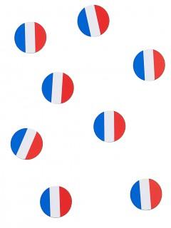 Tisch-Konfetti Frankreich Fanartikel 150 stück blau-weiss-rot 18g