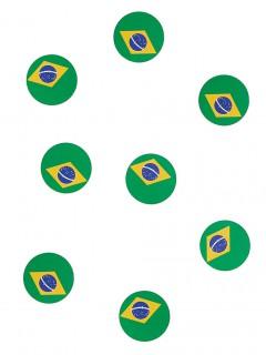 Tisch-Konfetti Brasilien Fanartikel Fussball 150 stück grün-gelb-blau 18g