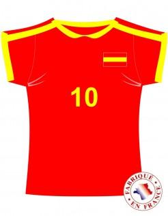 Wanddeko Trikot Spanien Fussball rot-gelb