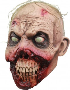 Horror-Zombie Halloween-Maske hautfarben-rot