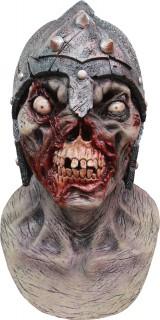 Zombie-Krieger Halloween-Maske grau