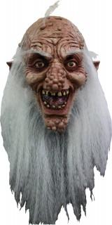 Verrückter Zauberer Halloween-Maske hautfarben-weiss