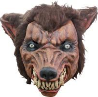 Wolfs-Horrormaske braun