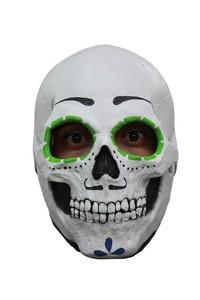 Tag der Toten Skelett-Maske Sugar Skull weiss-schwarz