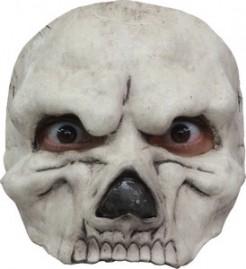 Gruseliges Skelett Halbmaske Halloween schwarz-weiss