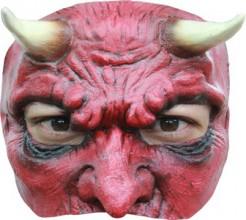 Teufel Halbmaske rot-schwarz