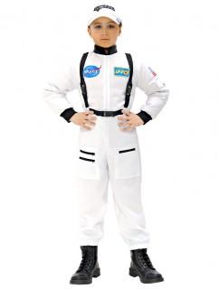 Raumfahrer-Kinderkostüm weiss-schwarz