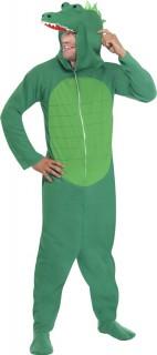 Krokodilskostüm Karneval-Tierkostüm grün