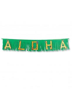 Hawaii Girlande Aloha Party-Deko grün-braun 1,5m