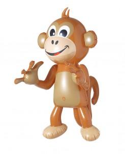 Affe aufblasbar Deko-Artikel braun 50 cm