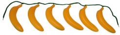 Bananen-Gürtel Kostümaccessoire Dschungel gelb-grün 96 cm