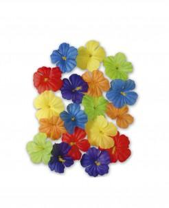 Hibiskus Blüten Hawaii Tischdeko 18 Stück bunt 4,5cm