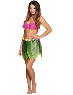 Hawaii Blätter-Rock Kostüm-Zubehör grün-bunt