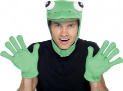 Frosch Kostümzubehör Märchen 2-teilig  grün