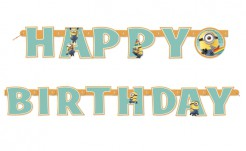 Girlande Minions Lizenzartikel Happy Birthday bunt 1,9m