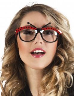 Witziger Marienkäfer Karneval-Brille schwarz-rot