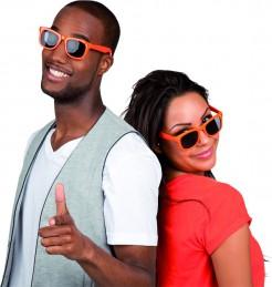 Sonnenbrille Accessoire Sommer orange-schwarz