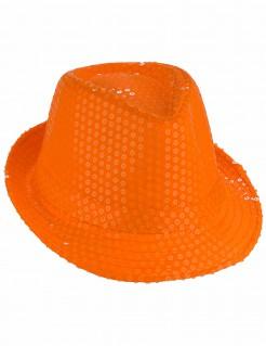 Erwachsenen Pailletten-Hut Accessoires orange