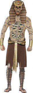 Zombie Pharao Halloween Kostüm braun-beige
