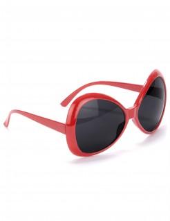 70er Discobrille für Erwachsene rot