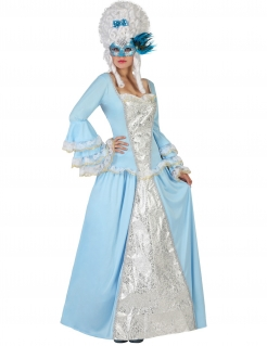 Historisches Barock-Prinzessin Damenkostüm blau