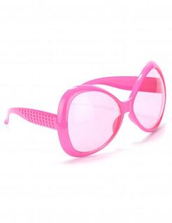 70er Jahre Disco Brille pink