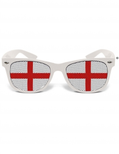 England-Brille England-Fanartikel weiss-rot