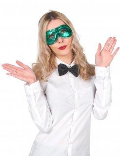 Metallic-Augenmaske venezianische Maske grün