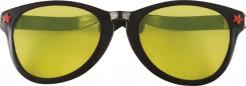 Riesige Party-Brille schwarz-gelb