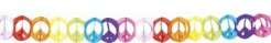 70er Hippie Peace Girlande Flower Power bunt 14x400cm