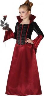 Elegante Vampirin Halloween-Kinderkostüm schwarz-rot
