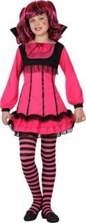 Süsse Vampirin Halloween-Kinderkostüm für Mädchen pink-schwarz