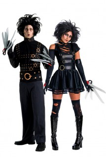 Edward mit den Scherenhänden™ Paarkostüm Halloween schwarz