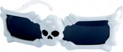 Skelett-Brille Halloween Totenkopf weiss-schwarz
