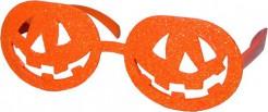 Halloween-Brille Kürbis orange