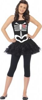 Skelett Halloween-Teenkostüm