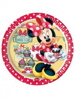 Minnie Mouse Pappteller Party-Deko 8 Stück bunt 23cm