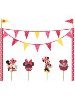 Kuchendeko-Set Minnie Mouse Disney-Lizenzartikel bunt