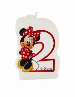 Geburtstagskerze Minnie Mouse Zahl 2 Lizenzartikel bunt