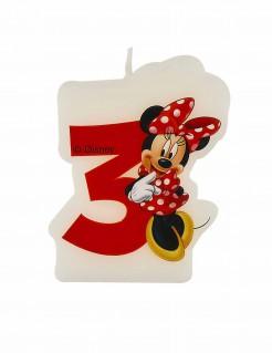 Geburtstagskerze Minnie Mouse Zahl 3 Lizenzartikel bunt