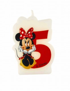 Geburtstagskerze Minnie Mouse Zahl 5 Lizenzartikel bunt