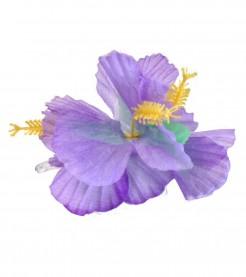 Hawaii Haarklammer Blüten Kopfschmuck lila 11cm
